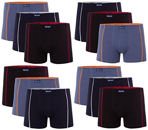 12 Herren Elastan -Baumwoll Boxershort, Modell: 12 STK Set 01, Größe: 3XL-9