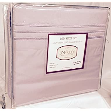 Mellanni Luxury Pillowcase Set - HIGHEST QUALITY Brushed Microfiber 1800 Bedding - Wrinkle, Fade, Stain Resistant - Hypoallergenic (Set of 2 King Size, Lavender)