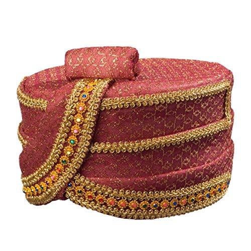 Kostüm Zubehör Orient Kopfbedeckung Fez rotgold Karneval Fasching
