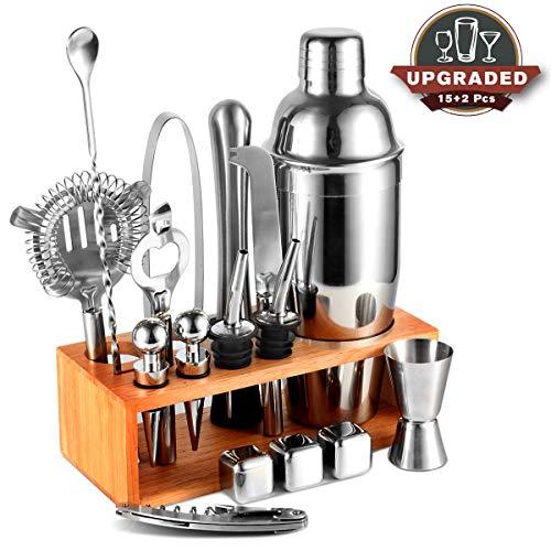 Cocktail-Shaker-Set mit Ständer, professionelles Edelstahl-Barbeiten-Set, 625 ml
