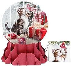 Christmas Greeting 3D Pop-Up Card Snow Globe Christmas Kitten