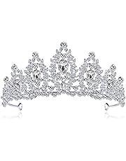 Manman Brautkrone Kristall-Braut Krone Stein Luxus Hochzeit Tiara Frauen Kopfschmuck Königin Prinzessin Headwear