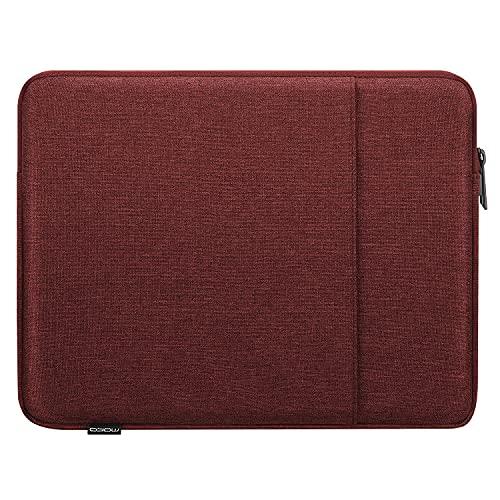 MoKo Custodia Protettiva da 9-11 inch, Sleeve per Tablet Compatibile con iPad 8th Gen 10.2, iPad Air 4 10.9, iPad PRO 11 2021 in Poliestere Resistente con Due Tasche a Zip, Vino Rosso