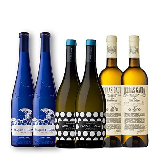 Pack de Vino Blanco | Vinos Rías Baixas | Vinos Albariño | Vinos Gallegos | Pack 6 botellas de vino blanco