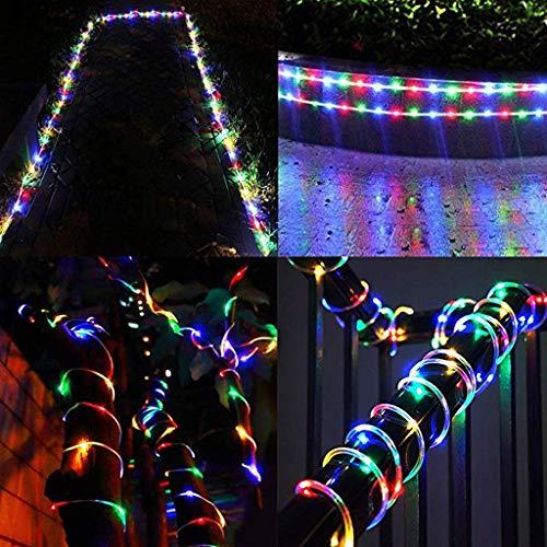 LED Lichtschlauch, 100 LEDs Lichterschlauch IP65 Wasserfest, 8 Modi Innen & Außenlichterkette, Lichterkette Strombetrieben mit EU-Stecker für Innen Außen Party Hochzeit Deko [Energieklasse A++] (Weiß)