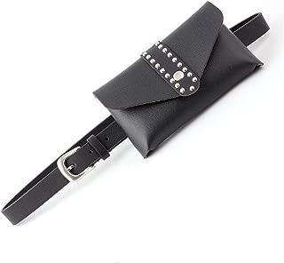 SGJFZD New Fashionable Personality Bag Decoration Ladies Belt Wild Belt Belt Belt Mobile Phone Purse Belt (Color : Black, Size : 105 * 2.4cm)