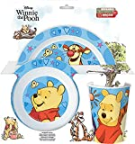 P:os 33543 Breakfast Set with Popular Winnie The Pooh Motif, 3-Piece Tableware Set for Children Consisting of Plate, Bowl and Cup, Made of Polypropylene, BPA and Phthalate-Free, Microwave Safe