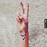 Cazador de sombras Poder angelical etiqueta engomada falso temporal del tatuaje (Juego de 2) - www.ohmytat.com