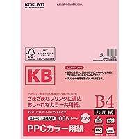 コクヨ PPCカラー用紙 共用紙 FSC認証 B4 100枚 ピンク KB-C134NP Japan