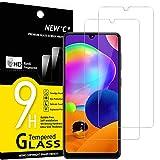 NEW'C Lot de 2, Verre Trempé Compatible avec Samsung Galaxy A31 / Galaxy...