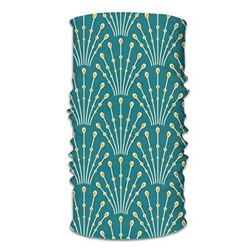KCOUU Art Deco Perles Paon par Coggon Variety Head Scarf Warmer Masque Visage Super Doux et Extensible Tour de cou Cagoule Coupe-vent