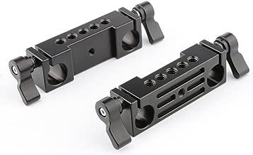 CAMVATE 15mm Rod Clamp Railblock for DSLR 15mm Rail Rig Rod Support System(2 PCS)