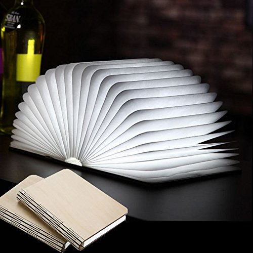 Bazaar Ledlamp, boekvorm, draagbaar, boekenlamp, tafellamp, spons, opvouwbaar van papier