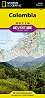 National Geographic Adventure Travel Map Colombia Map (National Geographic Adventure Travel Map South American)