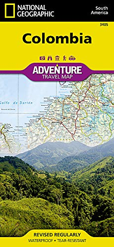 Colombia: Travel Maps International Adventure Map: 3405