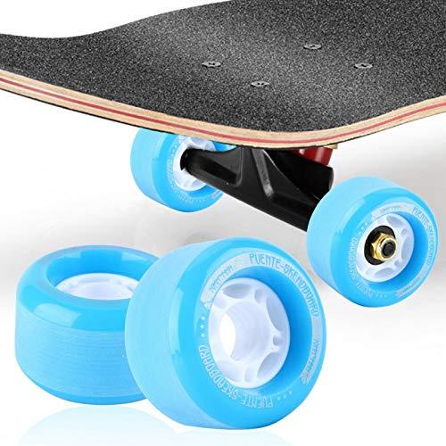Demeras Longboard - Ruedas de repuesto para monopatín, ruedas de monopatín, ruedas de monopatín, ruedas de repuesto para ruedas de tablero largo (azul)