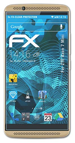 atFolix Schutzfolie kompatibel mit ZTE Axon 7 Mini Folie, ultraklare FX Bildschirmschutzfolie (3X)