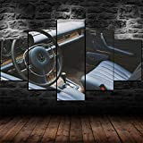 BDFDF 5 Partes Impresión En Material Tejido No Tejido Merced 250Ce Vilner Vintage Classic Car Cuadros Decoracion Salon Modernos Grandes 5 Piezas Lienzo Decorativo para Pared Dormitorio