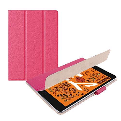 エレコム iPad mini (2019)、iPad mini 4 (2015) ケース フラップカバー イタリア製高級ソフトレザー 2アングル スリープ対応 ピンク TB-A19SWDTPN