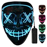 LED Mask Halloween Mask Purge Mask Light Up Cosplay LED Glowing Mask Festival
