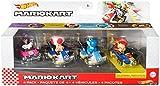 Hot Wheels Mario Kart Set de colección con 4 coches de juguete die-cast con personaje, regalo para niños +3 años, modelo 4 (Mattel GXX98)
