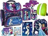 Disney Frozen Set Eiskönigin Anna, ELSA Schulranzen Set Ranzen, Federmappe 2-Fach, Turnsack,...