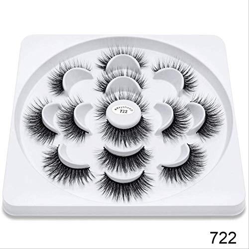 IYTE Faux cils4/7/13pairs Faux 3d Mink Lashes Natural Long False Eyelashes Volume Fake Lashes Makeup Extension Eyelashes 722