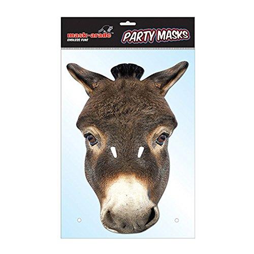 Rubies-Mascara burro adulto talla unica, multicolor, (Rubie'S Spain DONKE01)