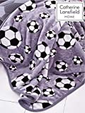Catherine Lansfield - Manta de fútbol (120 x 150 cm), Color Gris