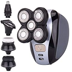 QUALITY HEAD SHAVER: Finally, the perfect head shaver for men to fit your needs. Its special features include a strong lithium battery and multi-purpose shaver and grooming heads. 5-IN-1: This electric head shaver and grooming kit have FIVE different...