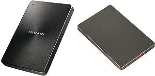 【セット買い】I-O DATA HDD ポータブルハードディスク 2TB USB3.1Gen1/Type-C対応 全面アルミボディ 日本製 HDPX-UTC2K & I-O DATA 外付けHDD ハードディスク 2TB ポータブル カクうす ...