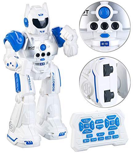 Playtastic Spielzeugroboter: Ferngesteuerter Spielzeug-Roboter mit Sound-Effekten, programmierbar (Kinder Roboter)
