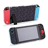 SUPNON Henna Paisley Mehndi Doodles Protective Case Compatible with Nintendo Switch - Soft Slim Grip Cover Shell for Console and Joy-Con with Screen Protector, Thumb Grips, Anti-Scratch Design13049