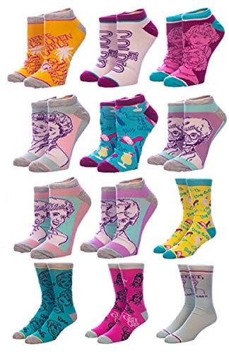 The Golden Girls TV Show 12 Days Of Socks Advent Calendar Set (shoe size 8-12)