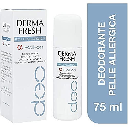 Dermafresh Alfa Roll-On Deodorante per Pelli Sensibili, Allergiche o Depilate - 75 ml