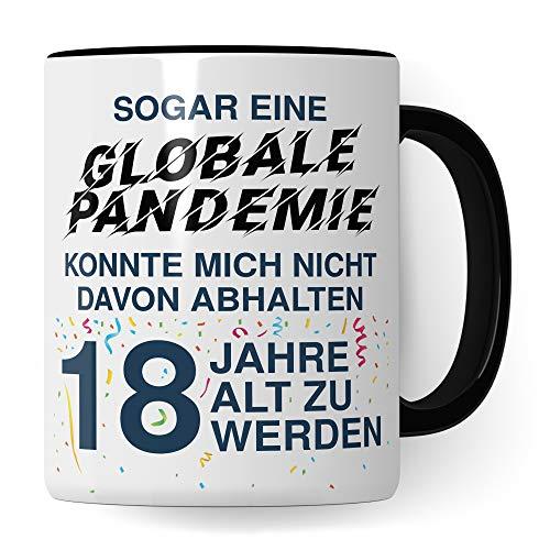 18. Geburtstag Junge Tasse, Geschenk 18 Geburtstag Sohn, Becher 18 Jahre alt Werden Spruch Becher Geschenkidee, Kaffeetasse 2003 Jahrgang Geburtstagsgeschenk Witz 2021
