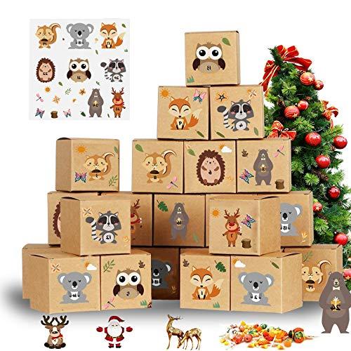 BOYATONG 24 Ostertasche Geschenkboxen Papier Geburtstag Klein Tiere,für Kinderparty und Kindergeburtstag von Mitgebsel Geschenk Treat Box Partybox Kinder Geburtstag Party,Und DIY Handwerk-Ostern