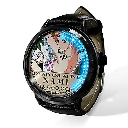 Anime One Piece Uhr LED Touchscreen wasserdichtes Digitales Licht Uhr Armbanduhr Unisex Cosplay Geschenk Neue Armbanduhren Geschenk für Kinder-A