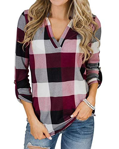 YOINS Women Long Sleeve V Neck S...