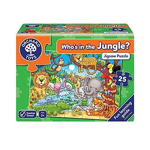 Orchad Toys 216 - Puzzle Who's in The Jungle? (25 Piezas, Id
