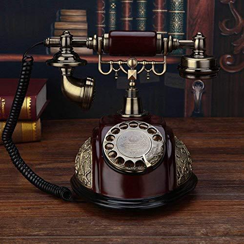 LHQ-HQ Europea Viejo teléfono Antiguo de Madera Maciza Teléfono de residencia del Usuario Creativo Teléfono clásico-A 20x25x26cm (8x10x10inch)