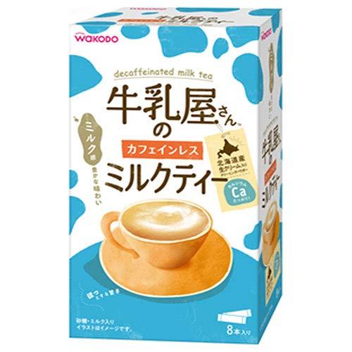 《セット販売》 アサヒ 牛乳屋さんのカフェインレスミルクティー 箱 (12g×8本)×12個セット インスタント 紅茶 スティック