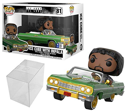 Funko Pop! Rides: Ice Cube in Impala Bundle with 1 PopShield Pop Box Protector