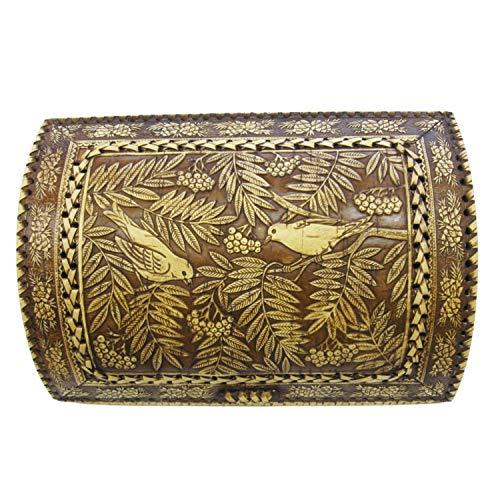 Caja de almacenamiento de pan hecha a mano – Panera de madera – Caja decorativa de granja hecha con corteza de abedul natural