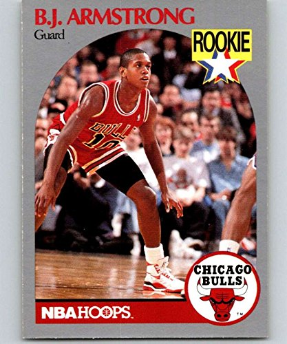 1990-91 NBA Hoops #60 B.J. Armstrong RC Rookie Chicago Bulls Official Basketball Trading Card