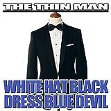 White Hat Black Dress Blue Devil
