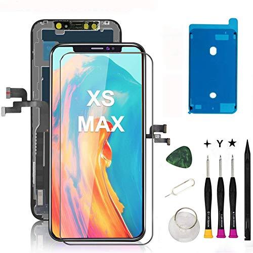Oli & Ode iphone XS MAX 液晶パネル iphoneXS MAX フロントパネル交換 iPhone XS MAX 修理パーツ iphone XS MAX screen replacement フロントパネル 3D 液晶パネルタッチスクリーン修理交換用 A1921 A2101 A2102 A2103 A21040(修理工具付属)(XS MAX ブラック)