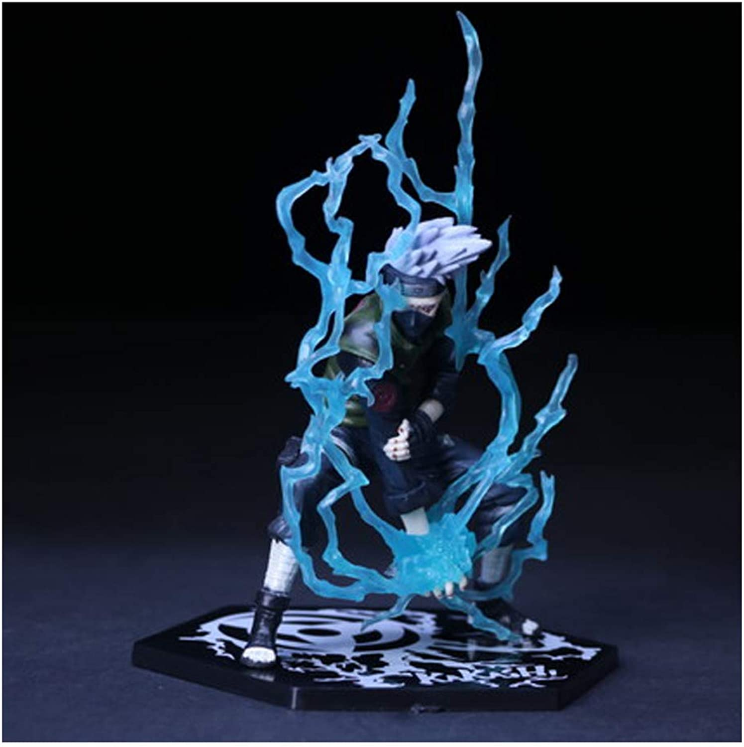 BJLWTQ Toy Model Naruto Hand 15 Generation 2 Naruto Kakashi Statue Home Office Decoration (color   D)