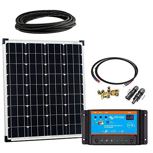 Offgridtec Solar Bausatz Basic Starter, 80 W, 12 V Solarmodul Laderegler Kabel, 002650
