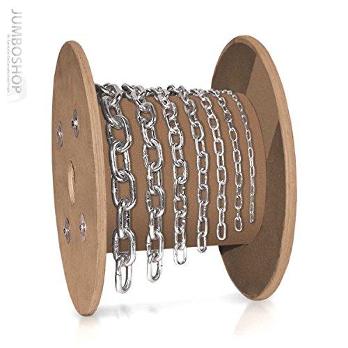 Seilwerk STANKE 1m 6mm Rundstahlkette kurzgliedrig METERWARE verzinkt Stahlkette -- DIN Eisenkette Stahl Eisen Kette abgerundet